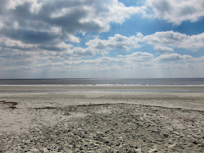 Walking on the beach on Saint Simons Island