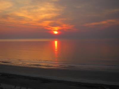 Spectacular sunrise over Hilton Head Island, South Carolina, early March 2010