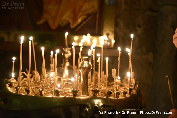 The Church Lightened By The Wish Candles