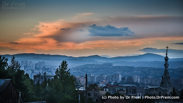 The Tiblisi City Sky View In Georgia
