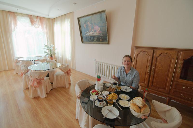 Breakfast at the Hotel Prestige, Akhaltsikhe