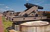 The historic Fort Pulaski cannons, on Cockspur Island, Georgia, USA, America.