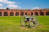 The historic Fort Pulaski, on Cockspur Island, Georgia, USA, America.