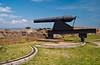 The historic Fort Pulaski cannon, on Cockspur Island, Georgia, USA, America.