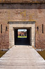 The historic Fort Pulaski entrance gate, on Cockspur Island, Georgia, USA, America.
