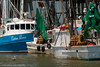 Fishing boats moored on the shores of the Savannah River. Tybee Island, GA<br /> <br /> GA-080627-0082