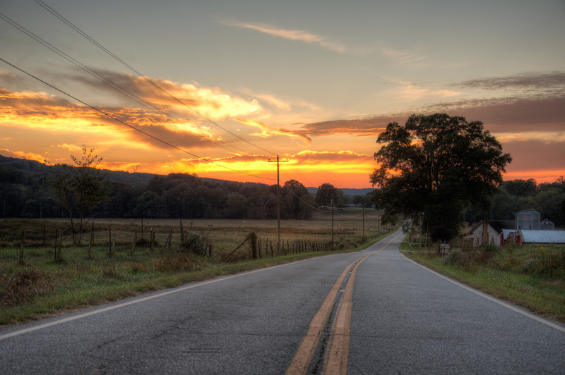 Along a Country Road