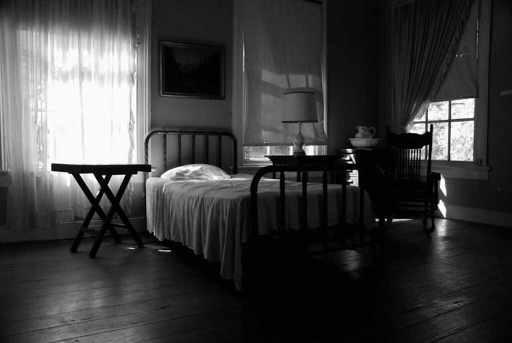 Guest room at Andalusia, home and farm of Flannery O'Connor. Baldwin County (GA) April 2009