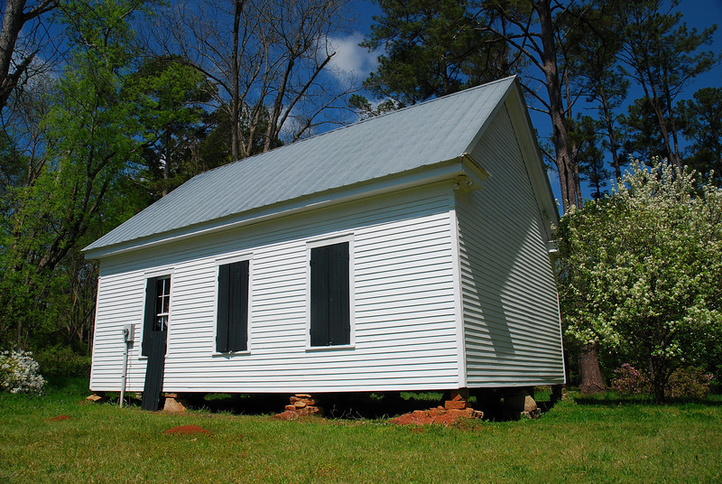 Historic school house in Old Clinton, GA (Jones County) April 2009