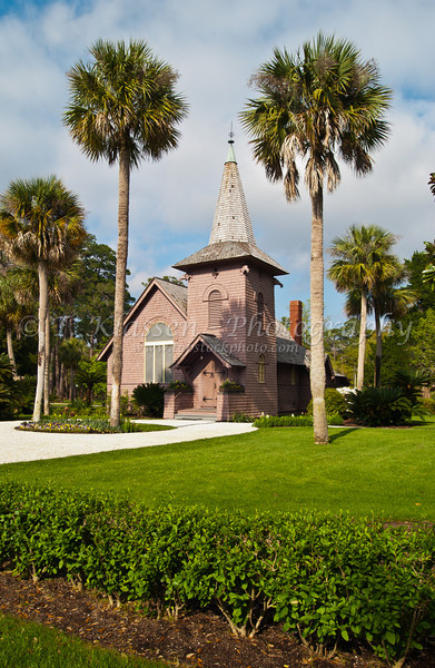 The Faith Chapel in the Jekyll Island Historical District, the Golden Isles of Georgia, USA.