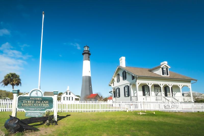 Tybee Island Lighthouse and Museum on Tybee Island Georgia