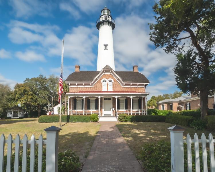 St. Simon Island Lighthouse and Museum on St. Simon Island Georgia