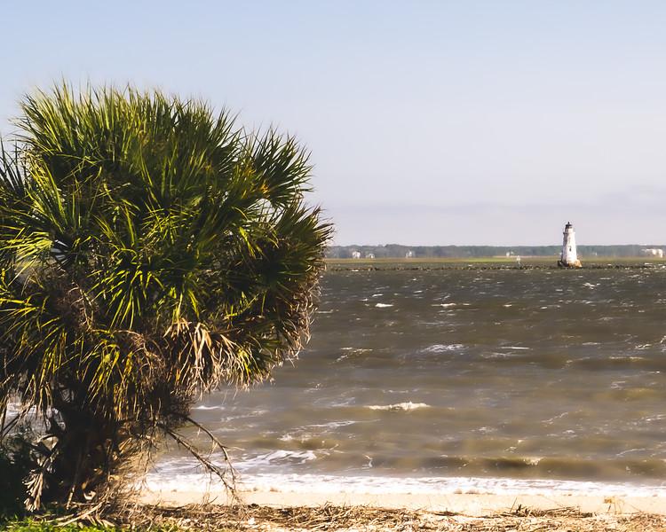 Cockspur Island Lighthouse on Cockspur Island Georgia