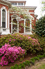 Spring blossoms and a home in Macon, Georgia, USA.