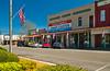 Main Street of Plains, Georgia, USA, America.