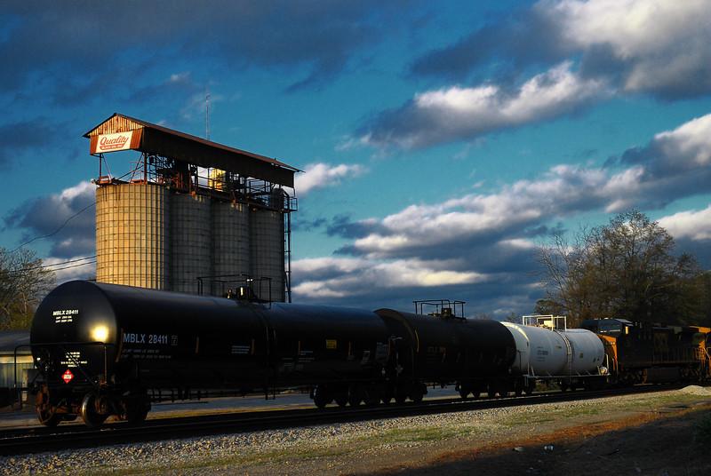 Athens, GA (Clarke County) March 2009<br /> <br /> A train is maneuvering in the CSX railroad yard near College Avenue.