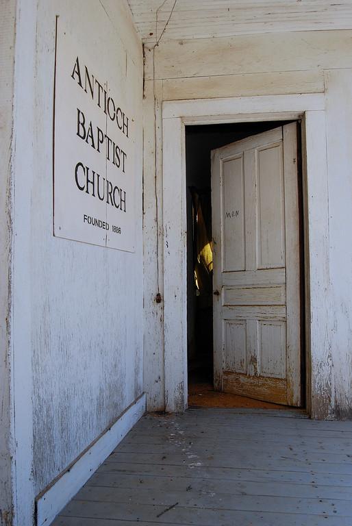 Men's bathroom, Antioch Baptist Church, Taliaferro County (GA). 2008