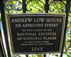Andrew Low House Plaque