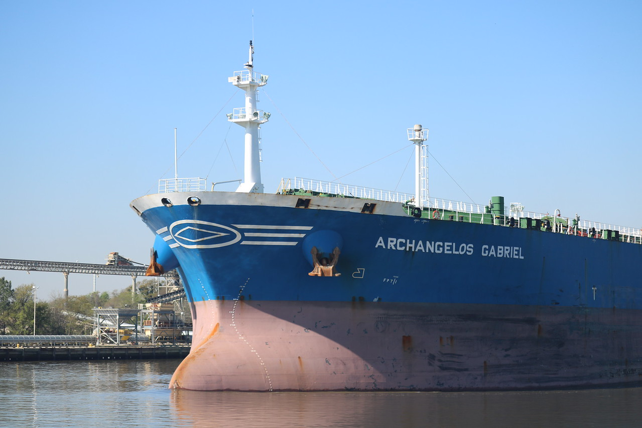 Archangelos Gabriel Ship Leaving the Port