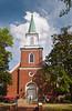 A church on the square in historic Savannah, Georgia, USA.