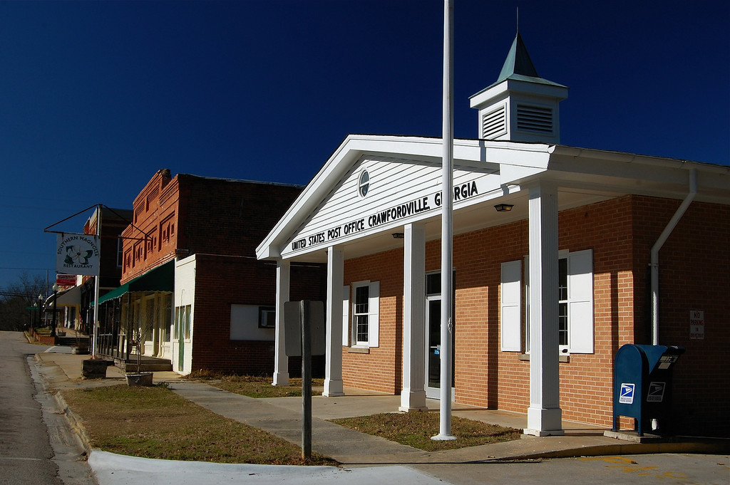 Post Office in Crawfordville, GA (Taliaferro County). 2008