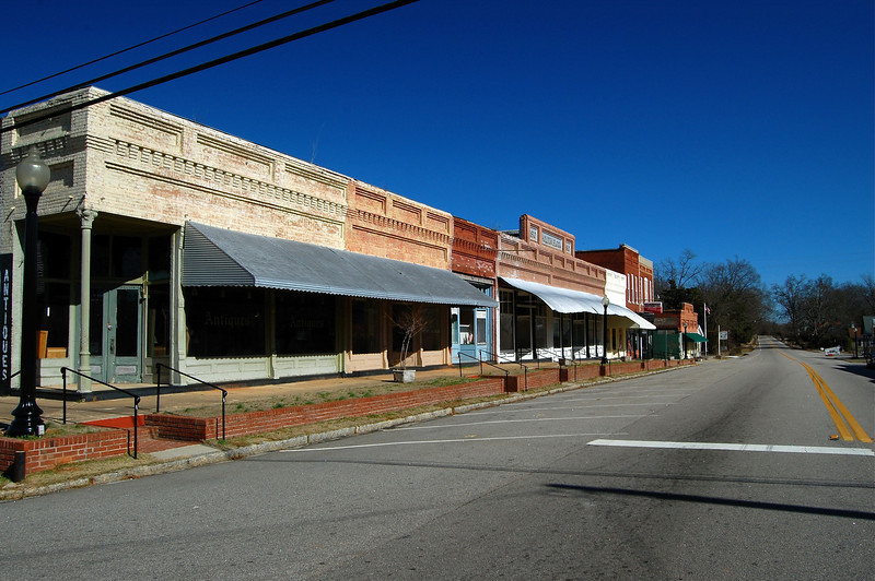 Downtown Crawfordville, GA (Taliaferro County). 2008