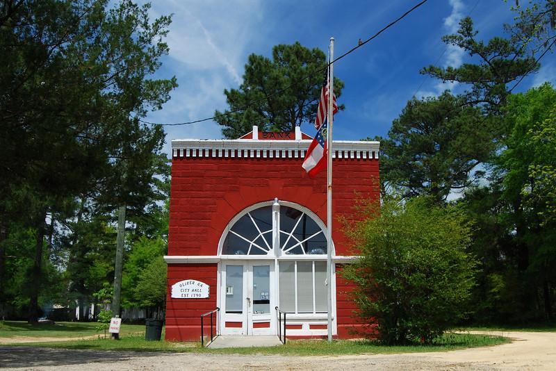City Hall of Oliver, GA (Screven County) April 2008