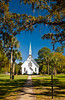 The Methodist Lovely Lane Chapel at Epworth by the Sea, St. Simons Island, Georgia, USA, America.
