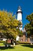 The St. Simons Historical Lighthouse  St. Simons Island, Georgia, USA, America.