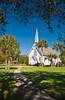 The Methodist Lovely Lane Chapel at Epworth by the Sea, St. Simons Island, Georgia, USA, America.