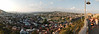 View of Tbilisi from the top of the cable car