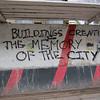 Protesting demolitions.