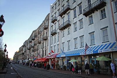 Shops along River Street Savannah, GA 12/2012