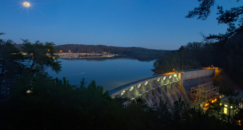 Moonlit Park Marina and Allatoona Dam