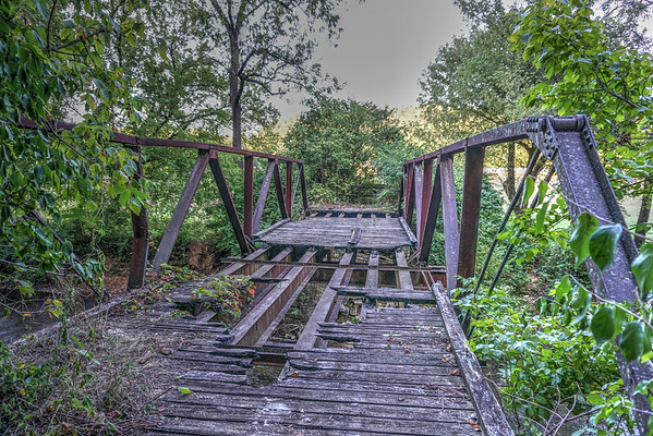 An old bridge that crosses Long Swamp Creek in Tate Georgia.