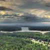 Aerial Sunset over Allatoona
