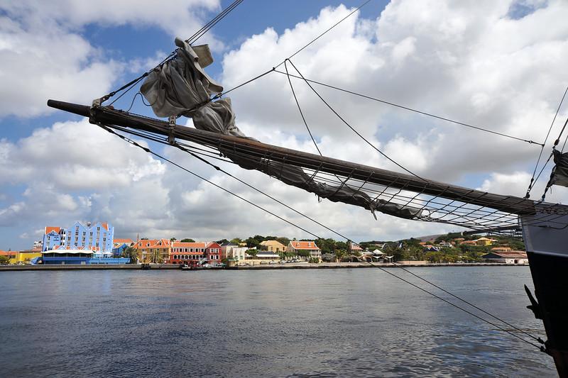 View across the Sint Annabaai towards the Otrobanda neighborhood in Willemstad, Curaçao