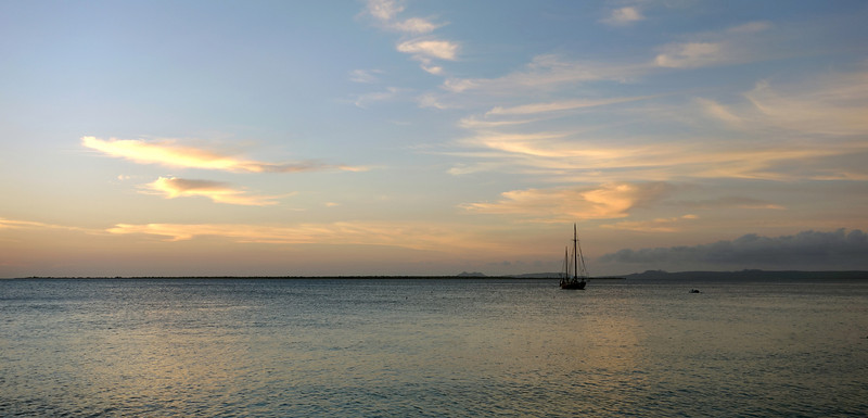 Twilight over the west coast of Bonaire