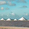 Salt pans and pyramids in southern Bonaire