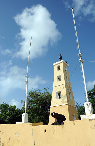 Kralendijk fort and lighthouse on Bonaire