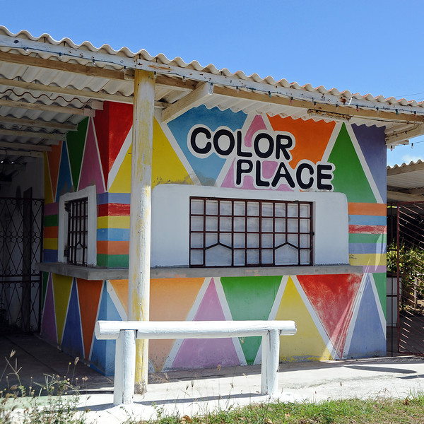Abandoned roadside bar in rural Curaçao