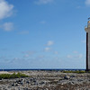 Willems Toren lighthouse on fossil coral reef, southeast Bonaire