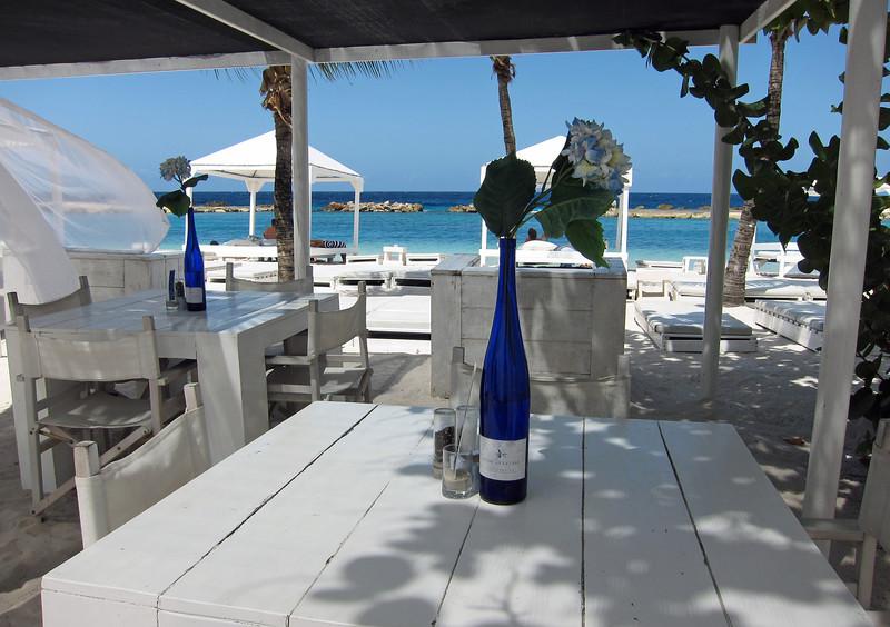 Upmarket beach club on Curaçao