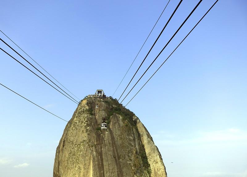 Monolithic granite peak of Pão de Açúcar in Rio de Janeiro, Brazil