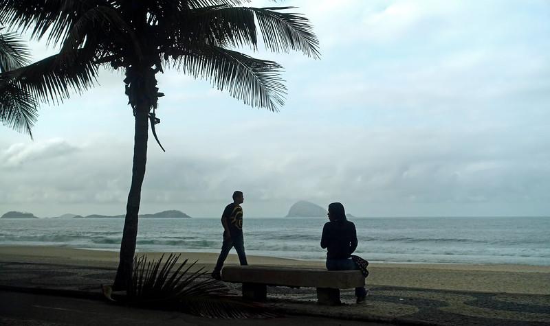 Gloomy morning over Rio de Janeiro's coast, Brazil