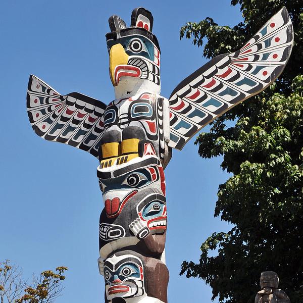 Totem pole in western Canada
