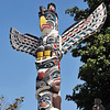 Totem pole in western Canada