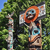 Totem poles in Vancouver's Stanley Park, Canada
