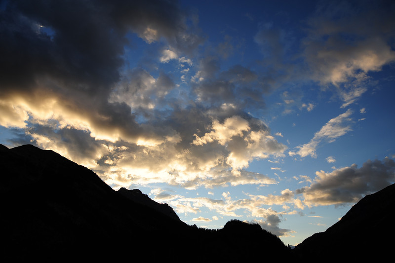 Sunset over the Continental Divide, Canadian Rockies