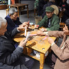 Lunchtime game at tea house in rural China